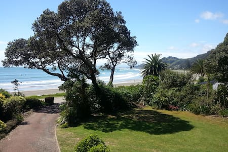 Right on the stunning Ohope Beach