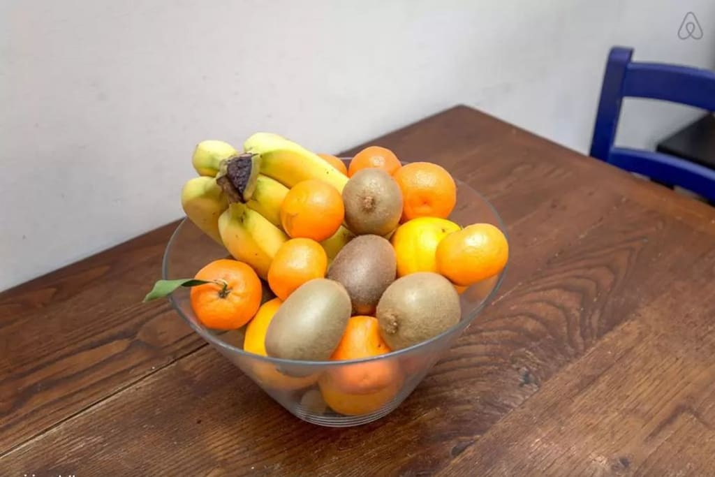 love fruit and wooden tables
