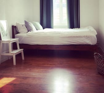 Sunny double guest room at Murgenthal SBB Station - Apartamento