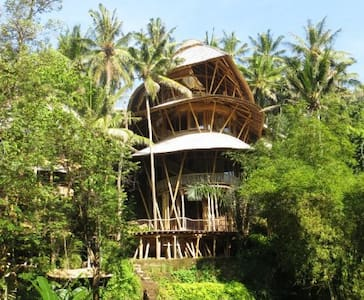 Spectacular Bamboo House by River - Abiansemal