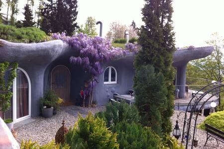 Erdhaus-Erlebnis mit Seesicht - Giswil - Rumah Bumi
