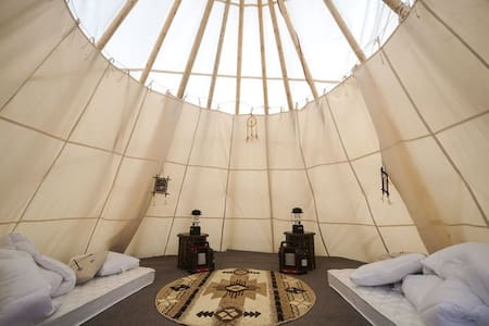 Glamping in a Tipi for 4  by Mt Rainier 1 - Elbe - Tipi