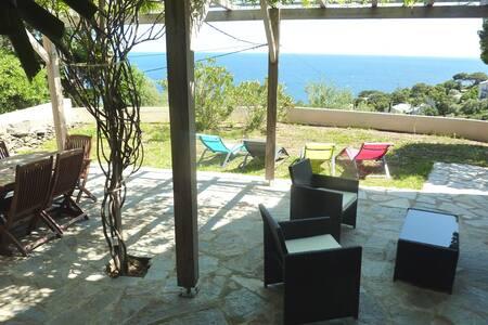 Miomo Cap Corse - Rez de villa avec vue sur la mer - Santa-Maria-di-Lota