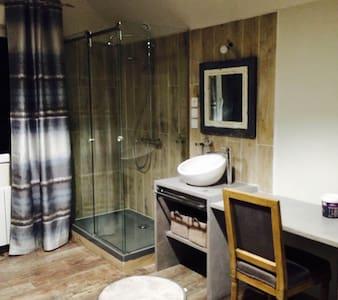 Chambre Atelier et espace commun (piscine,) - Luceau - Dom