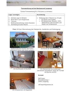 schöne Fewo, Vermietung ab 1 Woche - Apartamento
