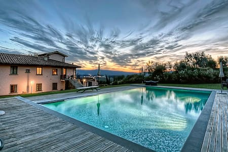 Apt in Villa,pool,Spa, Chianti view - Loro Ciuffenna - Apartment