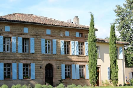 Lovely Lily Room with 2 single beds in Manoir - Couffouleux