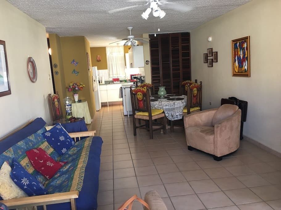 Spacious living and dining area!
