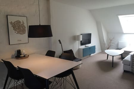 Lovely roof-top apartment in the heart of Odense! - Odense - Daire