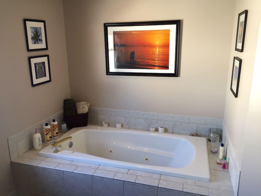 Relax in jacuzzi bath tub
