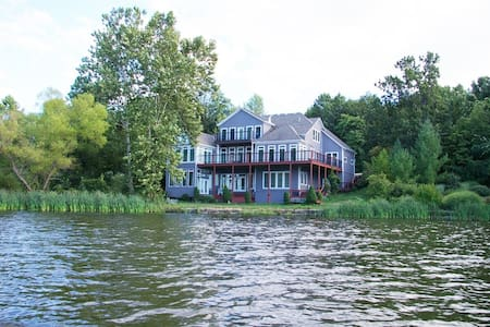 Luxury Home on Private Lake - Ground & 2nd level - Kansas City - Casa