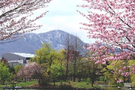 中島公園駅3分の1LDKタワーMS!コンビニ、公園、ススキノに歩いて行ける好立地! - 公寓