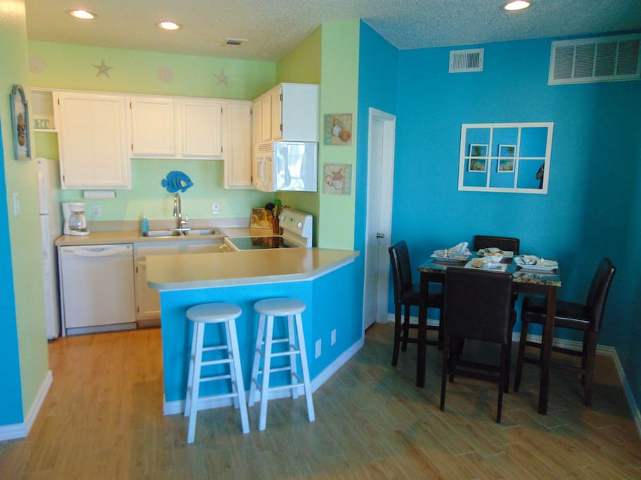 Kitchen ready for a meal with your family.