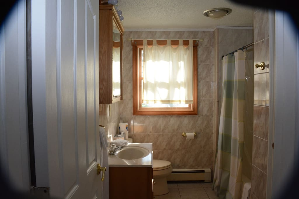 All bathrooms wall to wall tile.