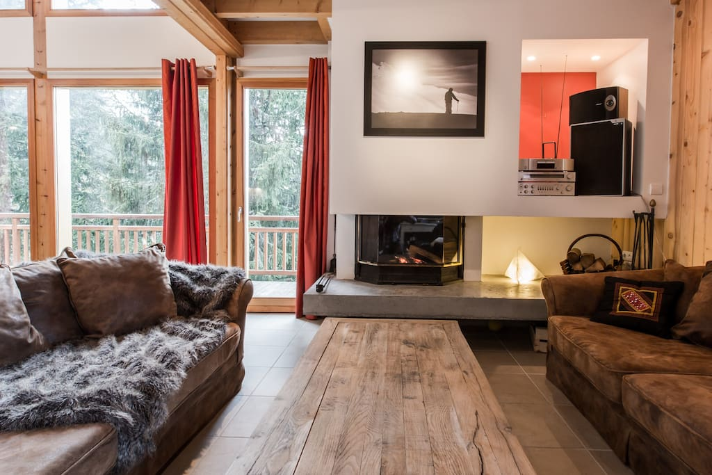 Chalet La Tania - Séjour/ Living room