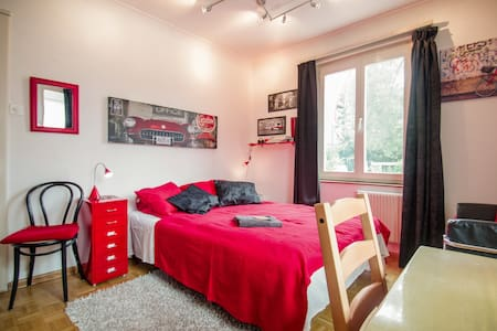 Comfortable single bed in shared gender doubleroom - Guesthouse