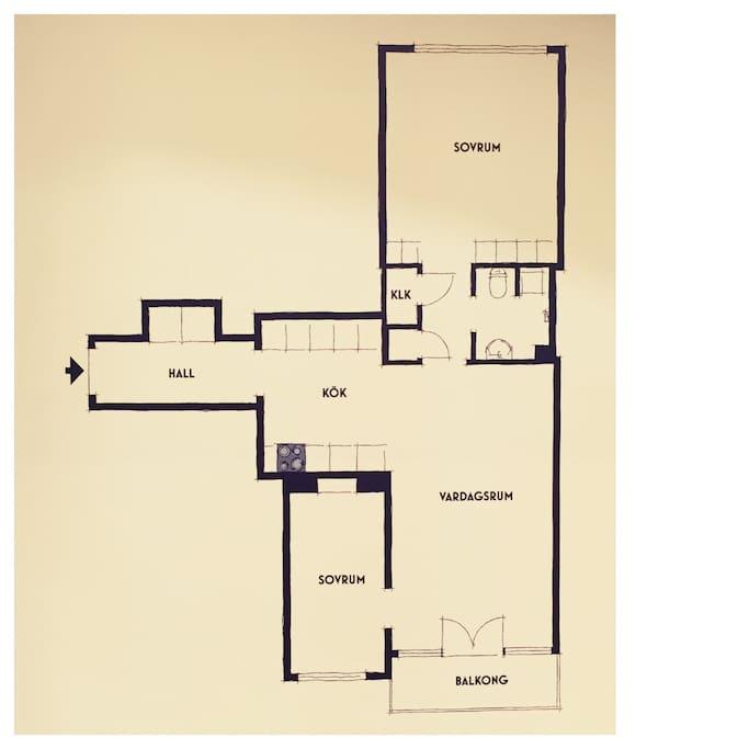 Apartment floor plan :)