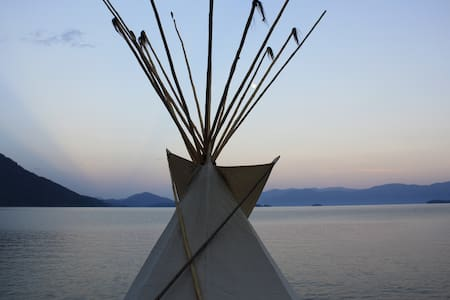 Tipi on private beach - Khemah Tipi