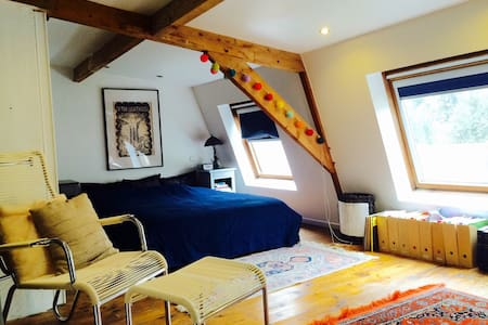 attic bedroom in beautiful home - House