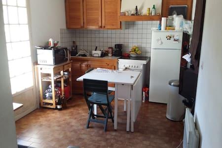 Chambre privée,barbecue,transat. - Apartament