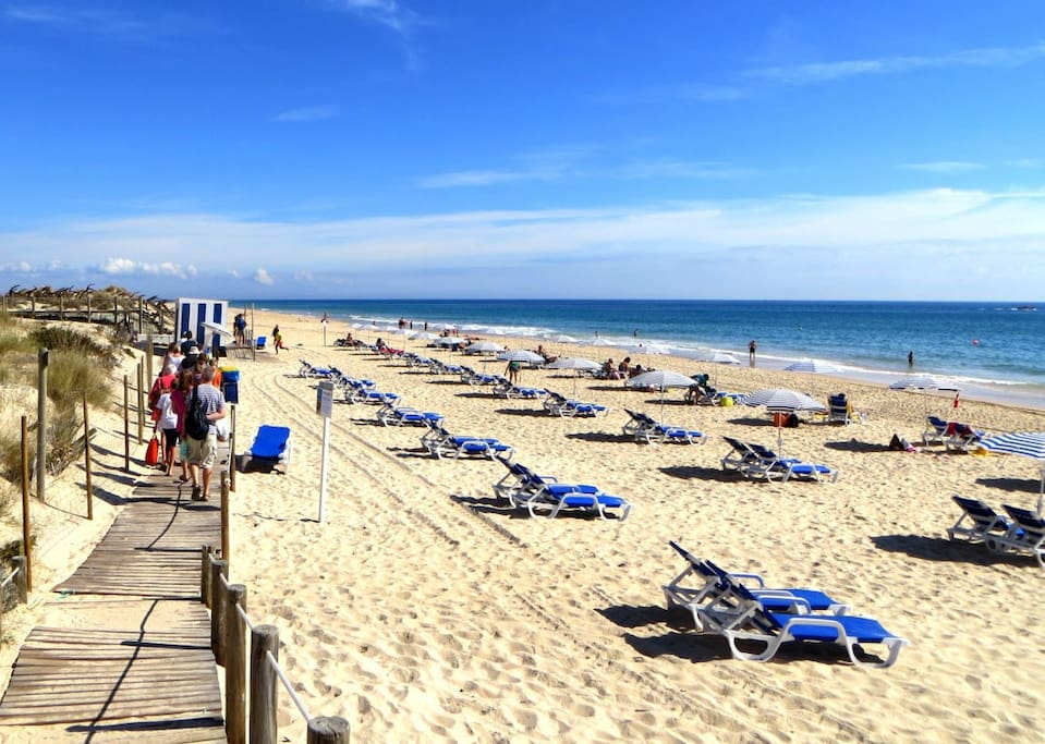 Vista parcial da excelente praia do Barril.