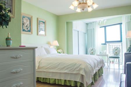 盒木子 绿色欧式风一房星级公寓 秦淮夫子庙 - Nanjing - Apartment