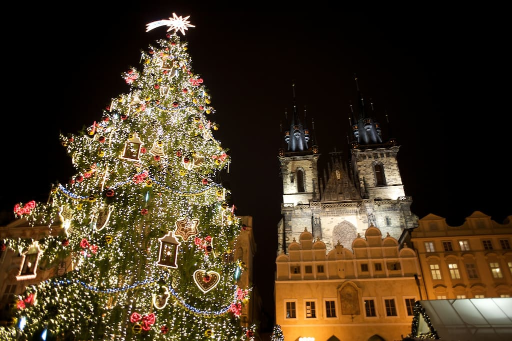 Christmas market 2016 on the Old Town Square-10 minutes walk from us:)
