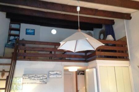 Studio cabine mezzanine loggia vue bateaux parking - Agde - Apartment