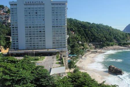 Flat with Ocean View Vidigal Leblon - Rio de Janeiro - Apartment