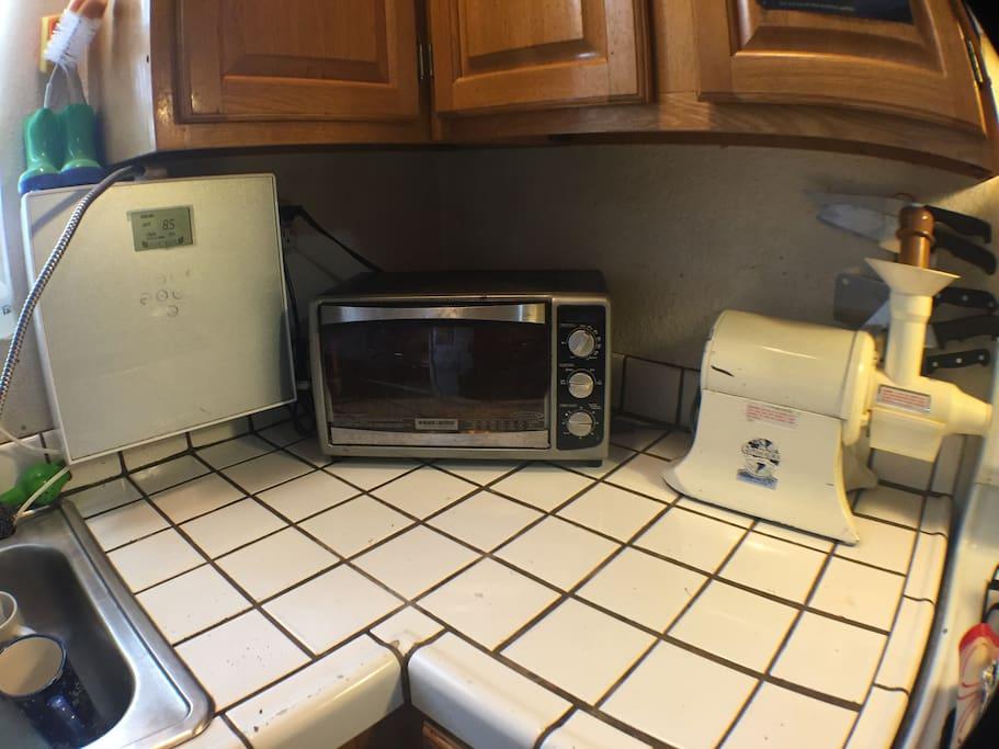 Alkaline Water Machine, Toaster Oven, Champion Juicer