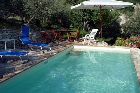Antico Casale in pietra con piscina con vista - Campello Alto