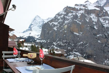Idyllic Murren - Spacious cosy apt. with balcony - Apartment