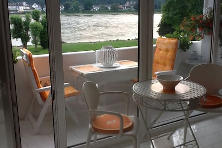 Ferienwohnung mit Top-Rheinblick - Wohnung