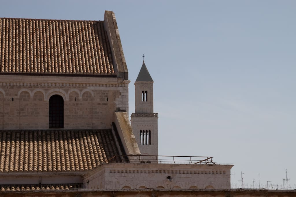 St. Sabino Cathedral behind St. Nichola's Basilica: view from the terrace