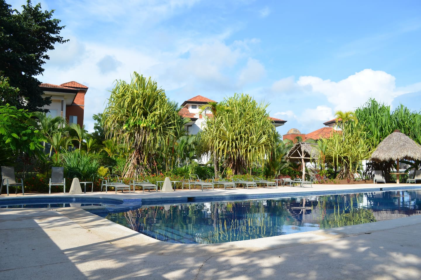 Your condo occupies the whole ground floor - a stones throw from the pool!