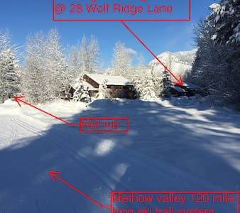 Family Friendly Log House on Trail - Winthrop - House