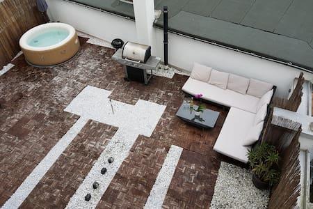 Penthouse mit Pool - Offenbach am Main - Loft