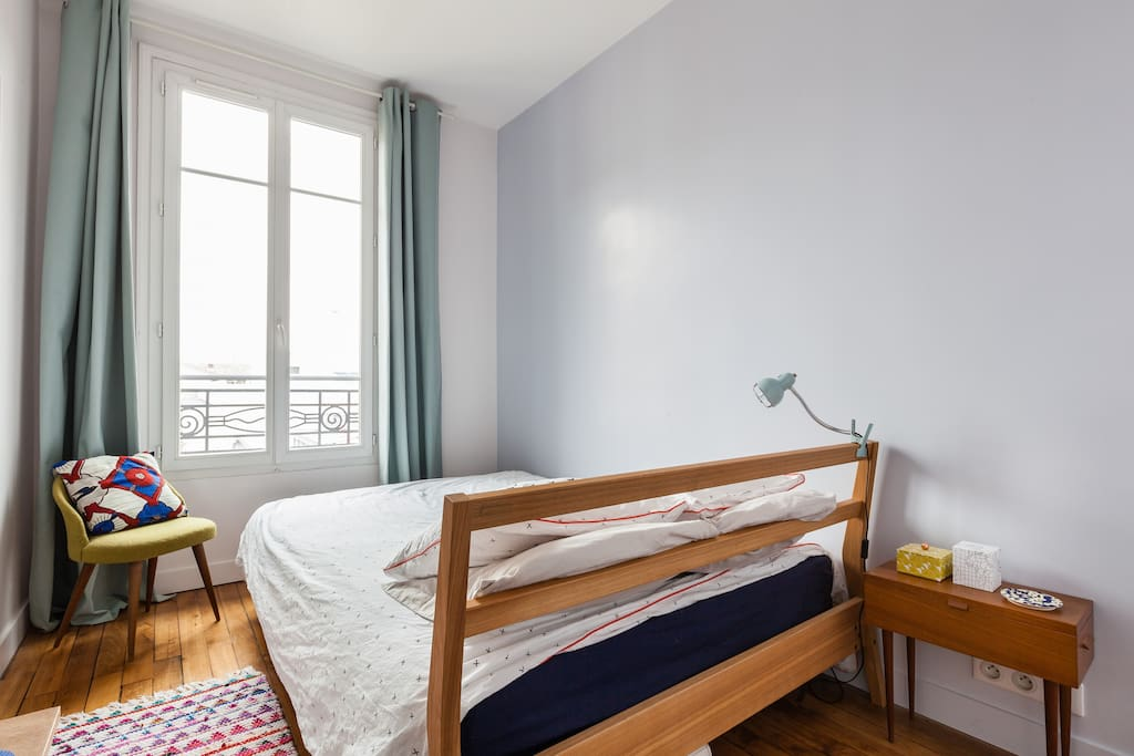 Chambre ensoleillée et calme