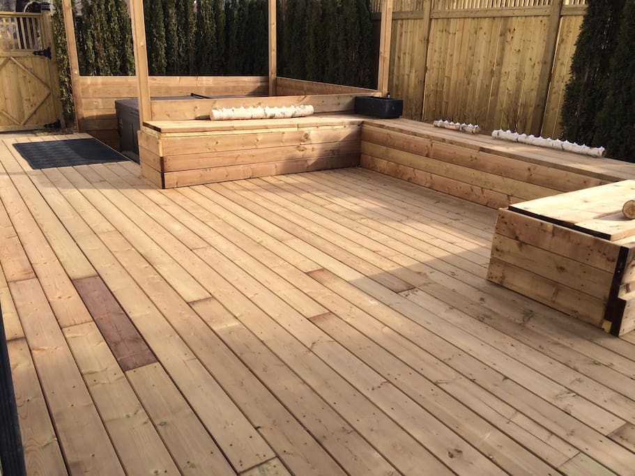 New 400sqft deck:) we can't wait for spring