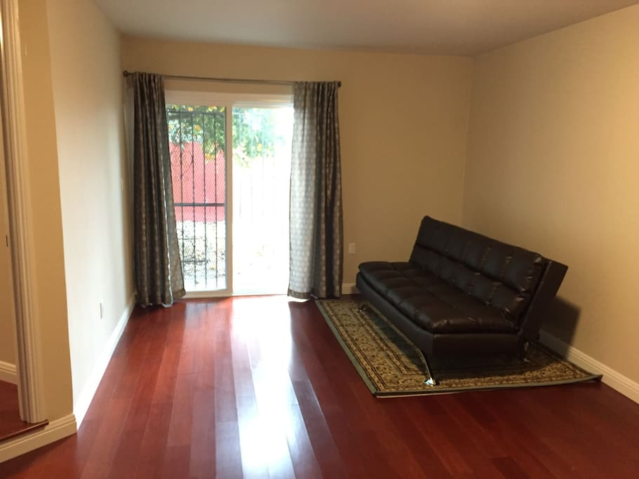 Family room with pullout futon-sofa. (sleeps 1 adult comfortably, 2 would be cozy)