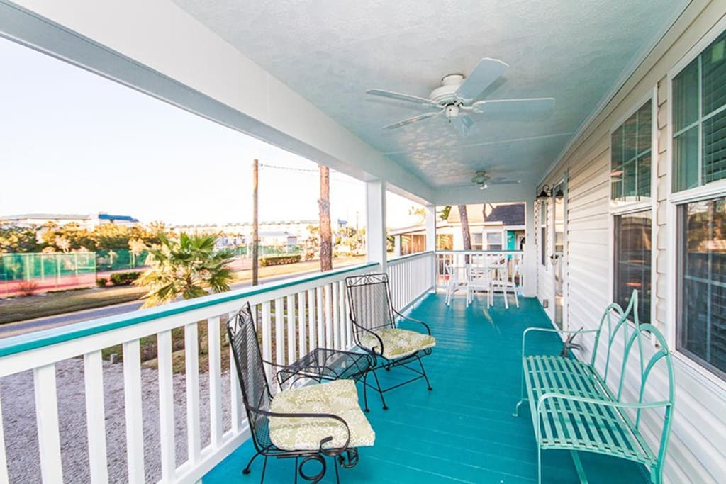 Enjoy Ocean Breezes and Beautiful Sunsets from your Relaxing Front Porch