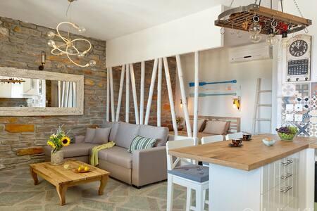 Sea & Stone- Luxury Beach house . - Koundouros - Condominium