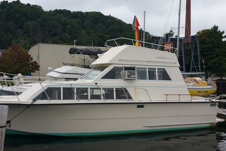 33ft Carver Motor Yacht/Betsie Bay - Boot