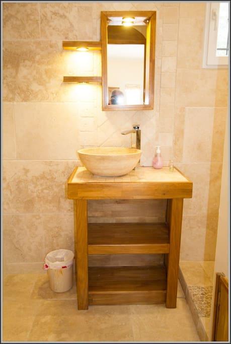 Salle de bain Gîte Tournesol