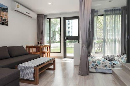 Duplex 2BR Sky Home 2Mins to MRT garden view - Condominio