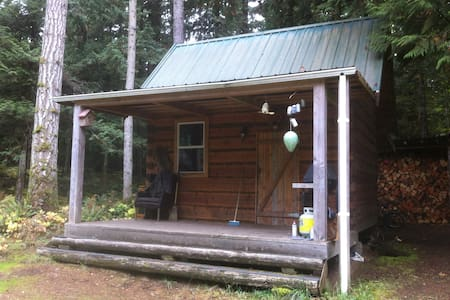 Broad axed rustic log cabin - Qualicum Beach - Kabin