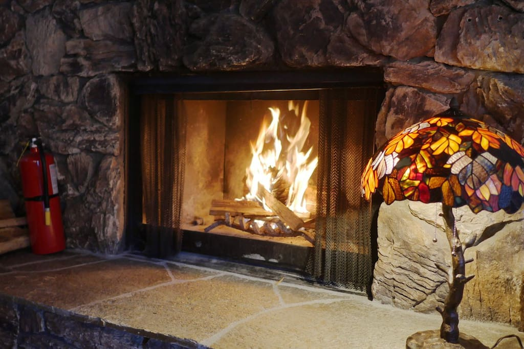 Nothing like the crackle of a fire in the fireplace to remind you that this is a vacation