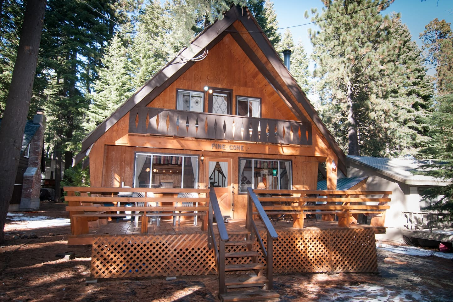Welcome to Pine Cone!  Classic A-frame with deck and balcony. Sleeps 15.