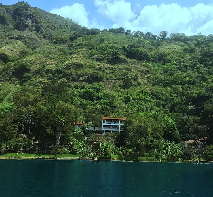 Breathtaking view of house as you arrive by boat