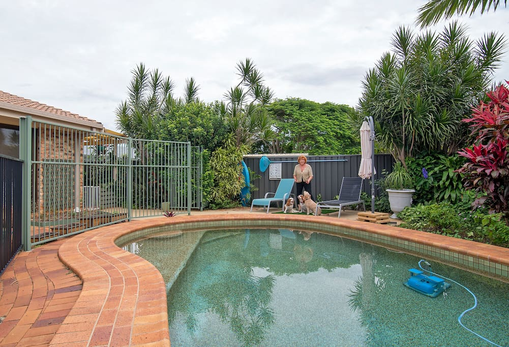 Pool shared with house